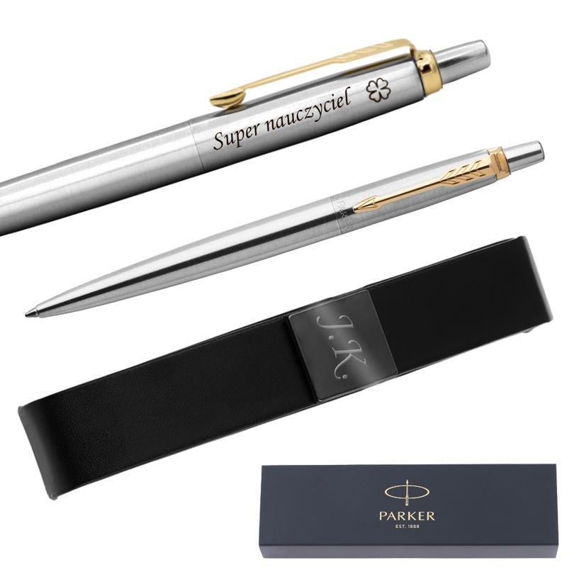 Długopis PARKER Jotter stalowy GT Grawer Etui