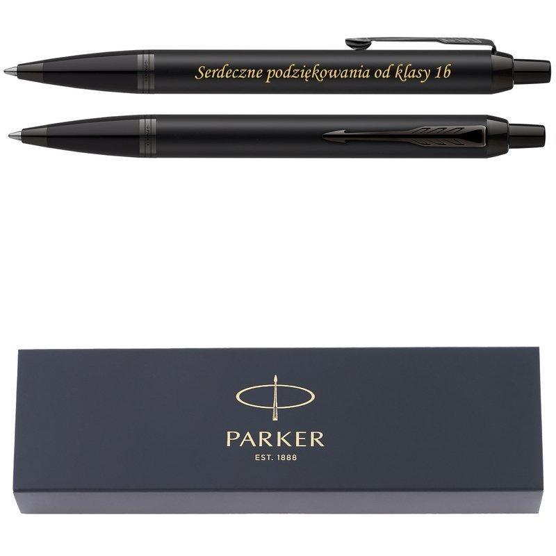 Długopis Parker IM Achromatic Czarny Nowość z Grawerem