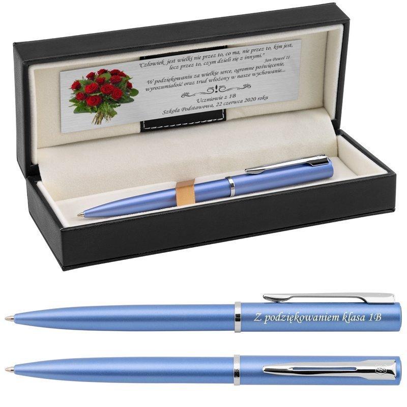 Długopis Waterman Allure niebieski CT z Grawerem