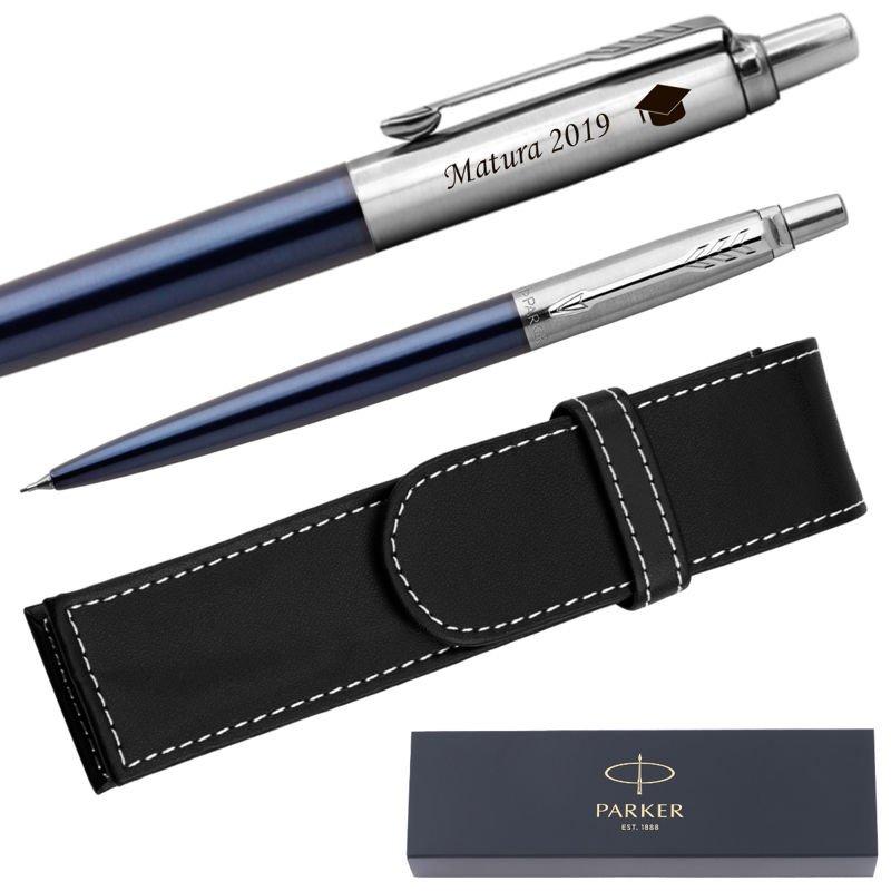 Ołówek Parker Jotter CT Niebieski Royal + Etui Grawer
