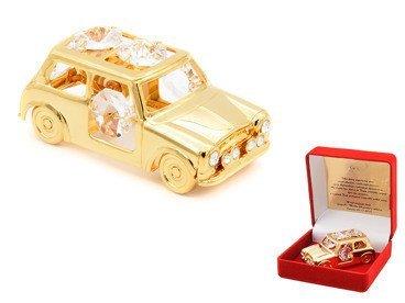 Samochodzik Mini Moris z kryształami Swarovski Grawer