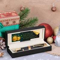 Zestaw Pióro wieczne Długopis Parker IM Czarny GT Etui z Grawerem