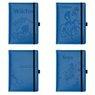 Notes reklamowy pamiętnik A5 Nebraska Błękitny z gumką z Grawerem 3