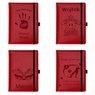 Notes reklamowy pamiętnik A5 Nebraska Czerwony z gumką z Grawerem 3