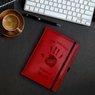 Notes reklamowy pamiętnik A5 Nebraska Czerwony z gumką z Grawerem 2