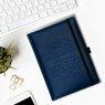 Notes reklamowy pamiętnik A5 Nebraska Niebieski z gumką z Grawerem 2