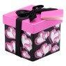 Pudełko na prezent czarne w różowe serca XS  1