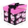 Pudełko na prezent czarne w różowe serca XS  3