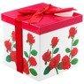 Pudełko na prezent czerwone róże M+ 1
