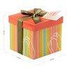 Pudełko na prezent kolorowe paski z tulipanem S 2