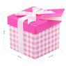 Pudełko na prezent różowa kratka XS 2