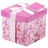 Pudełko na prezent różowe kwiaty S 1