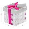 Pudełko na prezent szaro-różowe XS 2