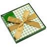 Pudełko na prezent zielona kratka M+ 3