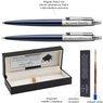 Zestaw Długopis Ołówek Jotter Parker Royal Granatowy CT z Grawerem 3