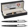Zestaw Parker Długopis Ołówek Jotter Czarny CT Etui z Grawerem 1