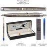 Zestaw Parker IM Gun Metal CT Pióro + Długopis + Czarne Etui Grawer 7