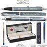 Zestaw Parker IM Pióro + Długopis Blue Grey CT Grawer i etui 7