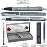 Zestaw Parker IM Pióro + Długopis Blue Grey CT z Grawerem 3