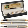 Zestaw Parker IM Pióro + Długopis Brushed GT z Grawerem 1