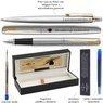 Zestaw Pióro i Długopis Parker Jotter stalowe GT Eko Pudełko Grawer 7