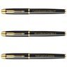 Zestaw Pióro wieczne Długopis Parker IM Czarny GT z Grawerem 5