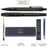 Zestaw Pióro wieczne i Długopis Parker IM Achromatic Czarny z Grawerem 4