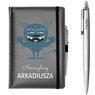 Zestaw notes reklamowy z długopisem A5 Nebraska Szary z Nadrukiem 1