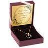 Złoty wisiorek serce z kryształkami 333 DEDYKACJA różowa kokardka 1